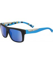 Sunglasses2u Bolle Clint Matte Black Blue Polarized GB-10 Sunglasses