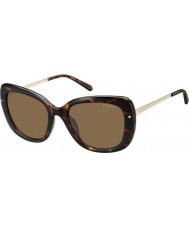 Polaroid Ladies PLD4044-S NHO IG Havana Gold Polarized Sunglasses
