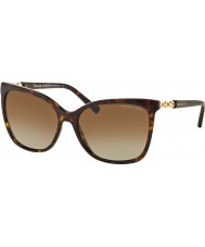 Michael Kors MK6029 56 Sabina II Dark Tortoiseshell Gold 3106T5 Polarized Sunglasses