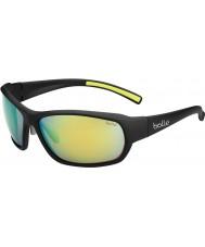 Bolle Bounty Matt Black Polarized Emerald Brown Sunglasses