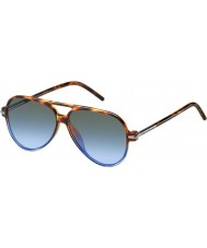 Marc Jacobs MARC 44-S TMR HL Havana Shaded Blue Sunglasses