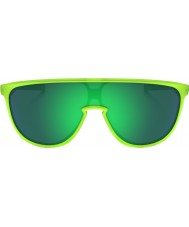 Oakley OO9318-07 Trillbe Matte Uranium - Jade Iridium Sunglasses