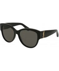 Saint Laurent Ladies SL M3 002 55 Sunglasses