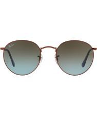 RayBan RB3447 53 Round Metal Shiny Dark Bronze 900396 Sunglasses