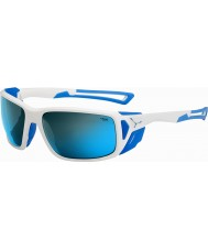 Cebe Proguide Shiny White Blue 4000 Grey Mineral Blue Sunglasses