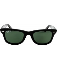 RayBan RB2140 54 Original Wayfarer Black Green 901-58 Polarized Sunglasses