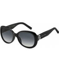 Marc Jacobs Ladies MARC 111-S 807 9O Black Sunglasses