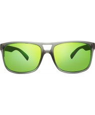 Revo RE1019 Holsby Matte Grey Crystal - Green Water Polarized Sunglasses