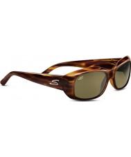 Serengeti Bianca Shiny Dark Stripe Tortoiseshell Polarized 555nm Sunglasses