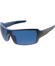Bolle Diamondback Shiny Black Blue Polarized GB-10 Sunglasses