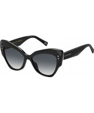 Marc Jacobs Ladies MARC 116-S 807 9O Black Sunglasses