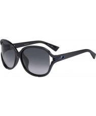 Dior Ladies Dior Elle 2 6MO HD Black Blue Sunglasses