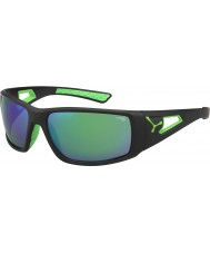 Cebe Session Black Green 1500 Grey Mirror Green Sunglasses