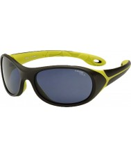 Cebe Simba (Age 5-7) Chocolate Neon Green Sunglasses