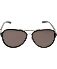 Oakley OO4102-04 Kickback Satin Chrome Black - Black Iridium Polarized Sunglasses