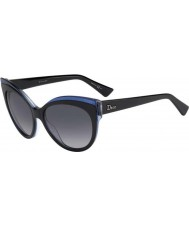 Dior Ladies Dior Glisten 1 E1X HD Black Blue Sunglasses
