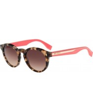 Fendi Colour Block FF 0085-S HK3 D8 Havana Pink Sunglasses