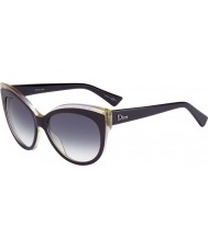 Dior Ladies Dior Glisten 1 ELU DG Dark Purple Sunglasses