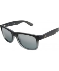RayBan RB4165 55 Justin Rubber Grey 852-88 Sunglasses