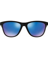 Oakley OO9320-11 Moonlighter Matte Black - Sapphire Iridium Polarized Sunglasses
