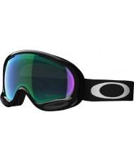 Oakley OO7044-01 A-Frame 2.0 Jet Black - Prizm Jade Ski Goggles