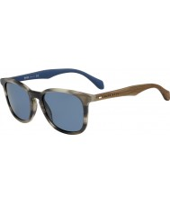 HUGO BOSS Mens BOSS 0843-S IWF 9A Horn Brown Blue Sunglasses