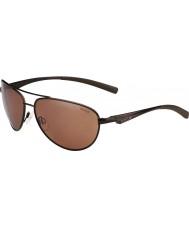 Bolle Columbus Matt Brown Polarized Sandstone Gun Sunglasses