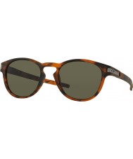 Oakley OO9265-02 Latch Matte Brown Tortoiseshell - Dark Grey Sunglasses
