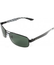 RayBan RB8316 62 Tech Carbon Fibre Black Green 002-N5 Polarized Sunglasses