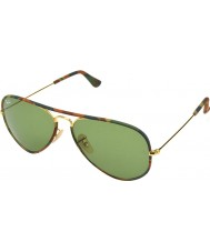 RayBan RB3025JM Aviator Full Color Gold Camouflage