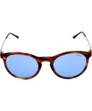Polo Ralph Lauren PH4096 50 Classic Flair Striped Havana 500772 Sunglasses