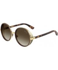 Jimmy Choo Ladies Andie-S J7Q J6 Rose Gold Brown Sunglasses