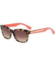 Fendi Colour Block FF 0086-S HK3 D8 Havana Pink Sunglasses