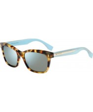 Fendi Colour Block FF 0086-S HK5 3U Spotted Havana Blue Sunglasses