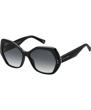 Marc Jacobs Ladies MARC 117-S 807 9O Black Sunglasses