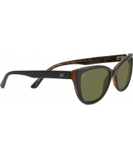 Serengeti Sophia Shiny Black Polarized 555nm Sunglasses