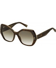 Marc Jacobs Ladies MARC 117-S ZY1 CC Havana Sunglasses