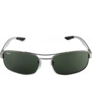 RayBan RB8316 62 Tech Carbon Fibre Gunmetal Green 004 Sunglasses