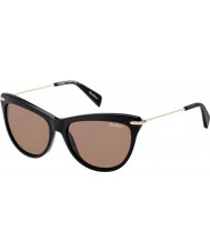 MaxMara Ladies MM Edgy I ANW CO Black Gold Sunglasses