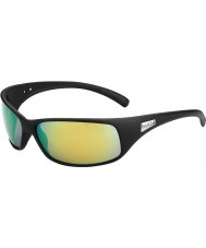 Bolle Recoil Matt Black Polarized Brown Emerald Sunglasses