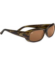 Serengeti Bianca Tortoiseshell Stripe Polarized Drivers Sunglasses