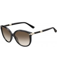 Jimmy Choo Ladies Giorgy-S QCN JD Dark Grey Sunglasses