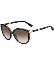 Jimmy Choo Ladies Giorgy-S QCN JD Dark Grey Sunglasses