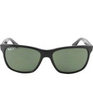 RayBan RB4181 57 Highstreet Black 601-9A Polarized Sunglasses