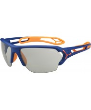Cebe S-Track Large Matt Blue Orange Variochrom Perfo Sunglasses