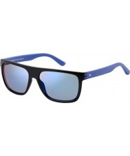 Tommy Hilfiger Mens TH 1277-S FB1 23 Black Blue Sunglasses