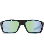 Revo RE4073 Guide II Shiny Black - Green Water Polarized Sunglasses