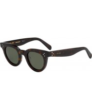Celine Ladies CL 41375-S 086 85 Dark Havana Sunglasses