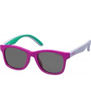 Polaroid Kids PLD8001-S T37 Y2 Fuchsia Lilac Polarized Sunglasses