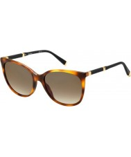 MaxMara Ladies MM Design II BHZ J6 Havana Rose Gold Sunglasses